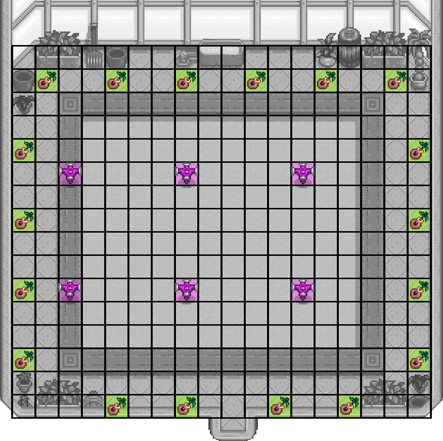 Optimal Greenhouse Layout Hypercarry They give one fruit everyday on one season only plus they take up spaces. optimal greenhouse layout hypercarry